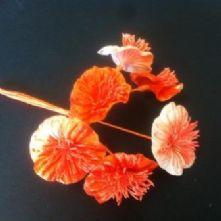 Vintage Velvet Blossoms in Orange